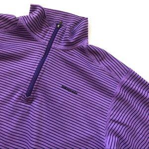 Girls Patagonia Purple Striped Jacket - medium